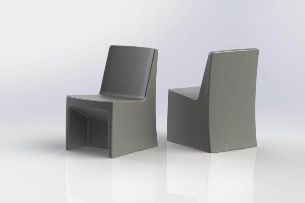 Juvenile Justice Estilo Armless Chair