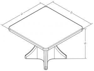 Estilo Dining Table Dimensions (ES 4000-1)
