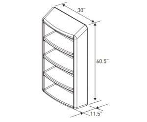 Four Shelf Locker Dimensions (EN 6000–8)