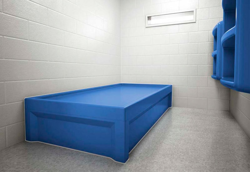 Max-Secure Lower Bed installed in Jail Cell