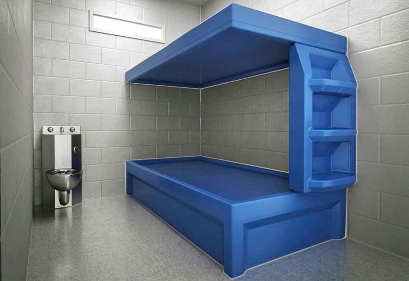 Max-Secure Upper Bed in Prison Cell