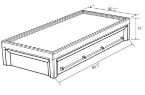 Multi point Restraint Bed Dimensions (EN 6000–12RB)