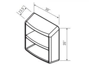 Two Shelf Locker Dimensions (EN 6000–7)