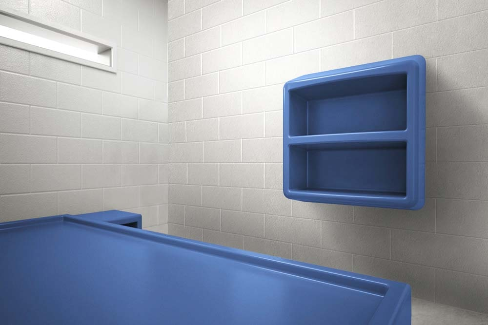 Anti-Ligature Two Shelf Storage in Juvenile Justice Center