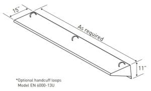 Wall Mounted Bench Dimensions (EN 6000–13)