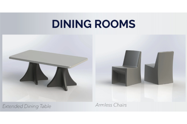 Max-Secure Extended Dining Table & Armless Chair