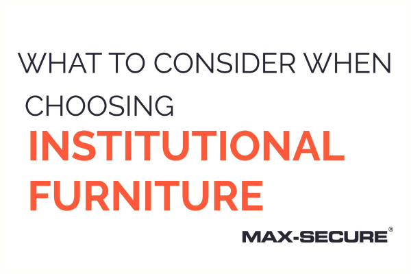 Blog post: What to consider when choosing institutional furniture