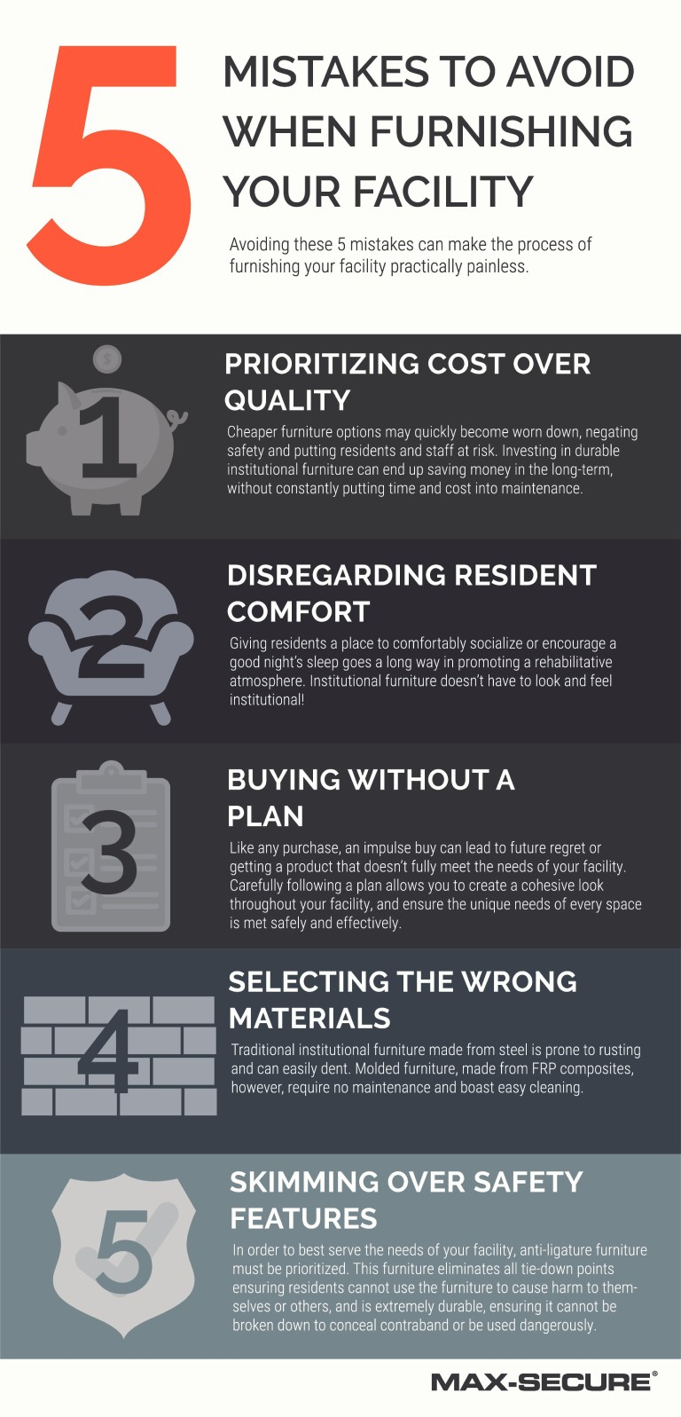 5 Mistakes to avoid when furnishing your facility