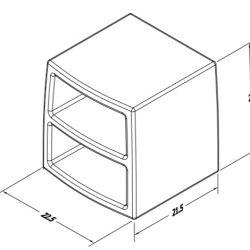 Estilo Nightstand Dimensions (ES 4000-17)